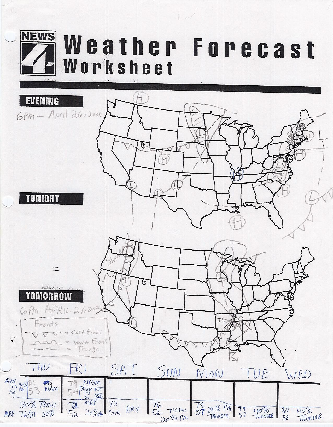 NEW 169 WEATHER MAP WORKSHEET | weather worksheet